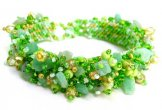 Stone Caterpillar Bracelet - Tulip Green