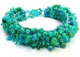 Stone Caterpillar Bracelet - Turquoise