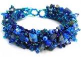 Stone Caterpillar Bracelet - True Blue