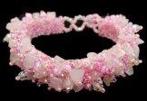 Stone Caterpillar Bracelet - Pink
