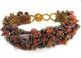 Stone Caterpillar Bracelet - Jasper Bronze