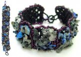 Stone Square Bracelet - Claret Blue