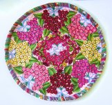 Round Huipil Pillow - Bouquets & Bows ***SOLD***