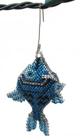 Christmas Ornament or Keychain - Fish