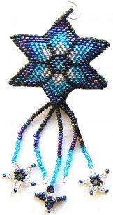 Christmas Ornament  or Keychain - Star