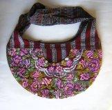 Huipil - Large Crescent Bag Violets ...SOLD...