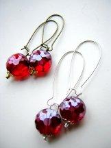 Ruby Red Crystal Vintage Drops