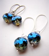 Deep Blue Crystal Vintage Drops