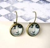 Wink Earrings - Bronze