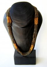 Tube Necklace - Copper and Bronze