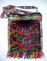 Huipil Bag -  Medium Square Chichicastenango Flowers 6 ***SOLD***