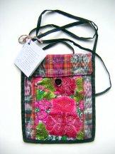 Huipil - Pocket Flap Bags - Pink Flowers ***SOLD***