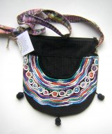 Huipil Bag - Small Half Moon Joyabaj Black 5 ***SOLD***