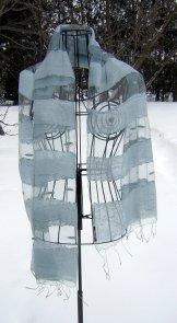 Silk Scarf - Shadow Weave - Silver