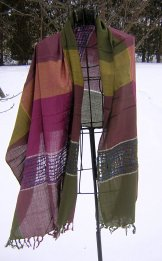 Scarf - Color Block - Bayberry