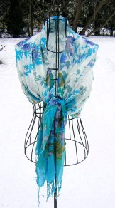 Scarf - Floral - Forget Me Not