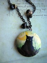 Black Cat Locket