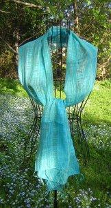 Scarf - Linen Weave - Sky