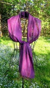 Scarf - Linen Weave - Purple