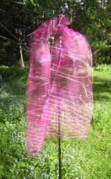 Silk Scarf - Sheer - Fuschia