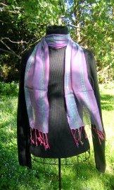 Skinny Scarf - Sequin - Blue/Pink