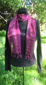 Skinny Scarf - Sequin - French Lilac