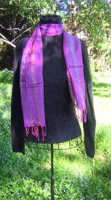 Skinny Scarf - Sequin - Purple