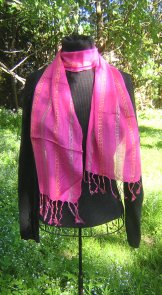 Skinny Scarf - Sequin - Flamingo