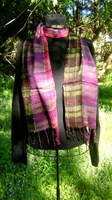 Skinny Scarf - Summer Plaid - Grapevine