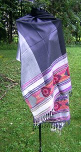 Bohemia Embroidered Scarf - Pewter