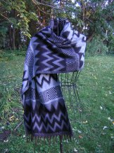Navajo Wool Shawl - Gray