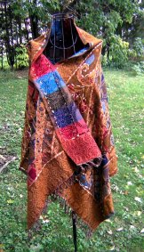 Wool Tapestry Shawl - Camel