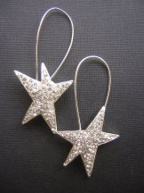 Pave' Stars Earring - Silver