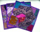 Sari Scrap Pillow Cover - Purple