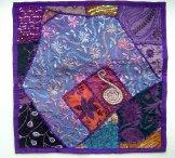 Sari Scrap Pillow Cover - Purple