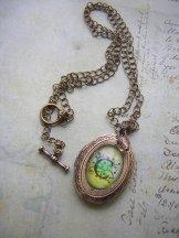 Small Bronze Initial Locket