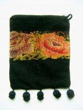 Huipil - Pocket Bag - Flower Border 2 ***SOLD**