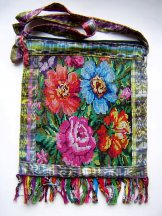 Huipil Bag - Large Square Chichicastenango Flowers 5 ***SOLD***