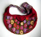 Huipil Crescent Bag - Patzun Flowers 11 ***SOLD***