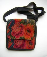 Huipil Tapestry Bag - Chichicastenango Garden 4 ***SOLD***