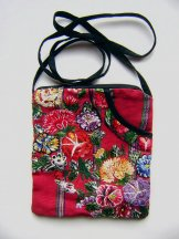 Huipil  -  Pocket Bag Patzun Flowers 18 ***SOLD***
