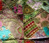 Sari Scrap Decorative Hanging  - Green