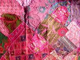 Sari Scrap Decorative Hanging  - Pink