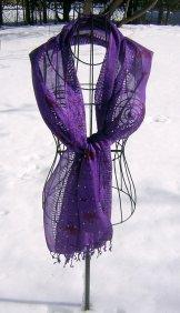 Primitive Print Scarf - Purple