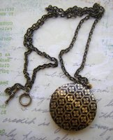 Black and Gold Locket