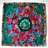 Mayan Huipil Pillow - Patzun Green Flowers ***SOLD***