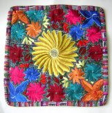 Embroidered Pillow Cover - Yellow Flower ***SOLD***