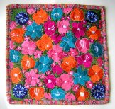 Embroidered Pillow Cover - Mayan Flowers 22 ***SOLD***