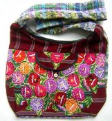 Huipil Bag - Large Market Bag - Patzun Flowers 7 ***SOLD***