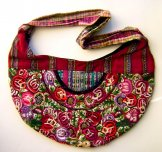 Huipil Crescent Bag - Patzun Flowers 13